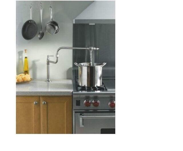 KOHLER NEW HiRise Single-hole deck-mount pot filler kitchen sink faucet  K-7323-4