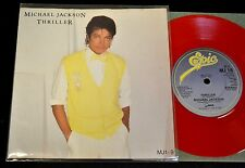 UK RED VINYL PICTURE SLEEVE Michael Jackson Epic 1/9 Thriller
