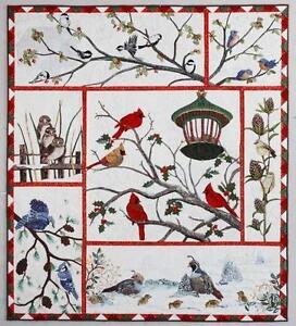 Audubon's Christmas Quilt Winter Birds AQS Kathy McNeil 7 Quilt Pattern Set