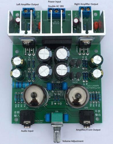 LM1875T Hifi 6j1 Valve Drive Power Amplifier Board Kits Headphone Amp Kits 20W
