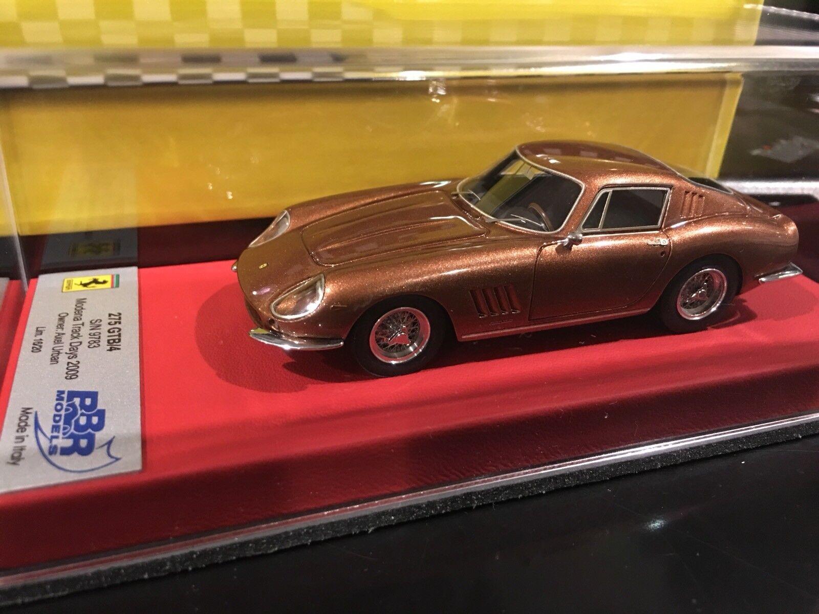 1 43 Rgm Bbr Ferrari 275 Gtb 4 Modena Piste Jours S N 9783   16 20 Neuf Vendu