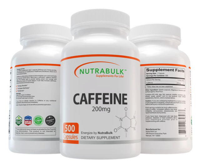 NutraBulk Caffeine 200mg Diet Pills 500 Count Health and Beauty