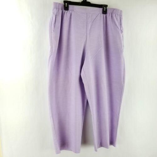 Alfred Dunner Pants Stretch Waist Purple 16WS 16WM 18WS 18WM 20WS 24WS 24WM