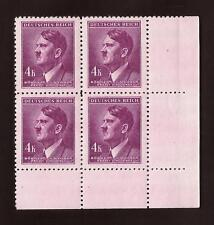 WW2 Nazi Germany 3rd Reich Hitler head B&M 4K value bust stamp block MNH
