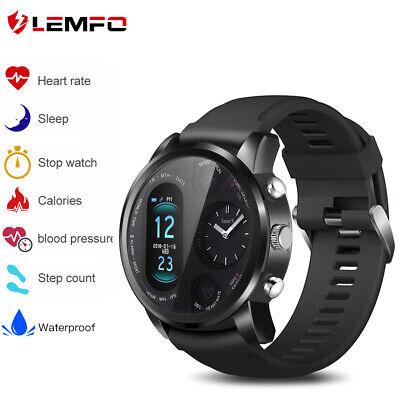 LEMFO Dual Display Smart Watch Heart RateBlood Pressure Sports Fitness Tracker