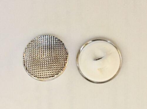 10 knoepfe 18 mm plástico metal plata farbend estriado
