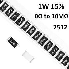 2512 Smdsmt Resistors 1w Chip Resistance 5 Range Of 0 To 10m