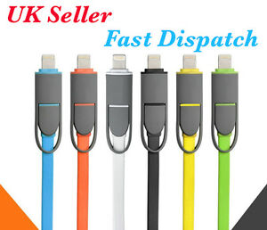2in1-Data-Sync-micro-USB-Charger-Cable-Connector-For-Apple-iPhone-5-5S-Android