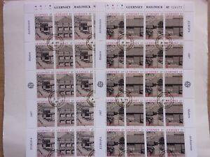 GB GUERNSEY1987 EuropaModern Architecture Full Sheets2 VFU Sg39497 - Swadlincote, United Kingdom - GB GUERNSEY1987 EuropaModern Architecture Full Sheets2 VFU Sg39497 - Swadlincote, United Kingdom