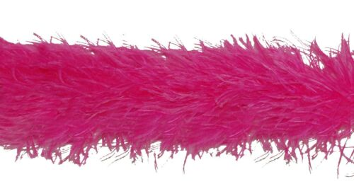 """4 Ply OSTRICH FEATHER BOA SHOCKING PINK 2 Yards; Costumes//Craft//Bridal 72/"""""""