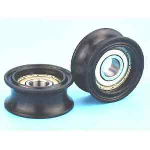 8mm Bore Bearing with 46.5mm Round Nylon Pulley U Groove Track Roller Bearing 8x
