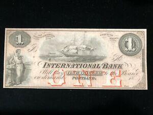 1$ International Monnaie Portland Maine Billet De Banque Navire G2a Rouge O / P Dessins Attrayants;