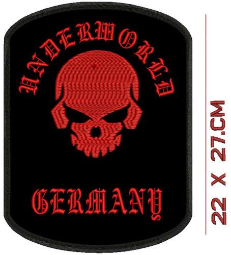 Toten Kopf   Underworld  Germany Rückenpatch Aufnäher