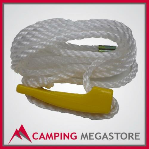 4X GUY ROPE 3.5M SINGLE WITH YELLOW POLYCARBONATE SLIDER