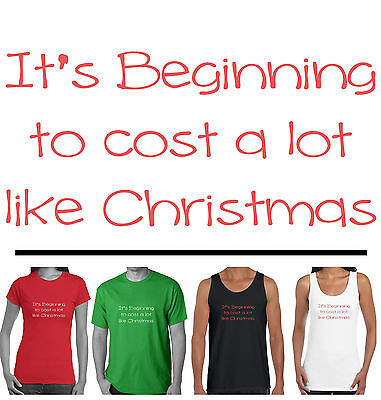 Funny Christmas T-Shirts Size Men's Ladies Women's cost like xmas Singlets tee