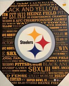 Pittsburgh Steelers Typography Canvas Art Print (New) Canada Preview