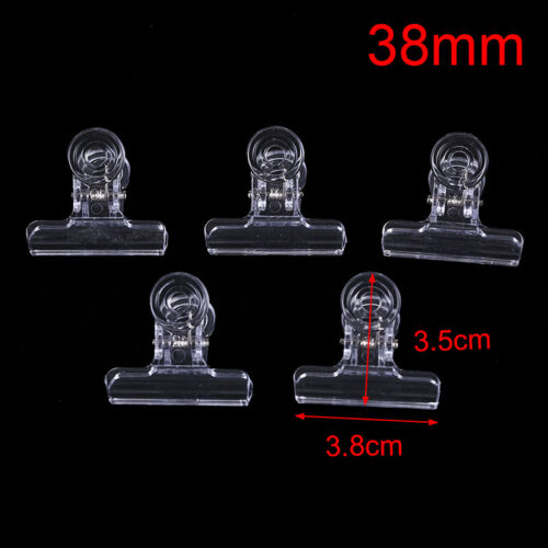 5PCS Clear Fly Tying Feather Clips Hackle Holding Tools Fly Fishing Accessori YJ