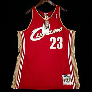 new product 443c5 92a6a Details about 100% Authentic Lebron James Mitchell Ness Cavs Cavaliers  Jersey Mens Size 48 XL