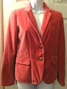 1b7ab885752 Image is loading J-CREW-Womens-Schoolboy-Blazer-Pink-Rose-Velvet-