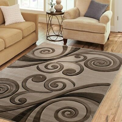 Hand Carved Rugs 5x8 Modern Abstract
