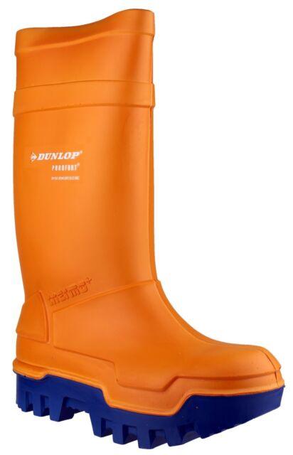 nuovo prodotto d87f8 81f6a Stivali da lavoro Dunlop Purofort Thermo Piena sicurezza termici Arancione  ...
