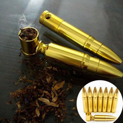 Metal Tobacco Pipes Creative Smoking Smoke Pipe Gold Herb Grinder Tobacco Pipe