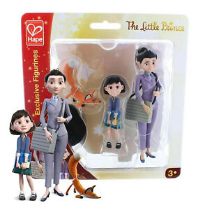 Hape The Little Prince Exclusive Figurines aviator little girl fox Stands New