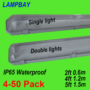 Details About Led Tube Light Fixture Vapor Proof T8 G13 Lamp Housing Ip65 Ceiling Fittings