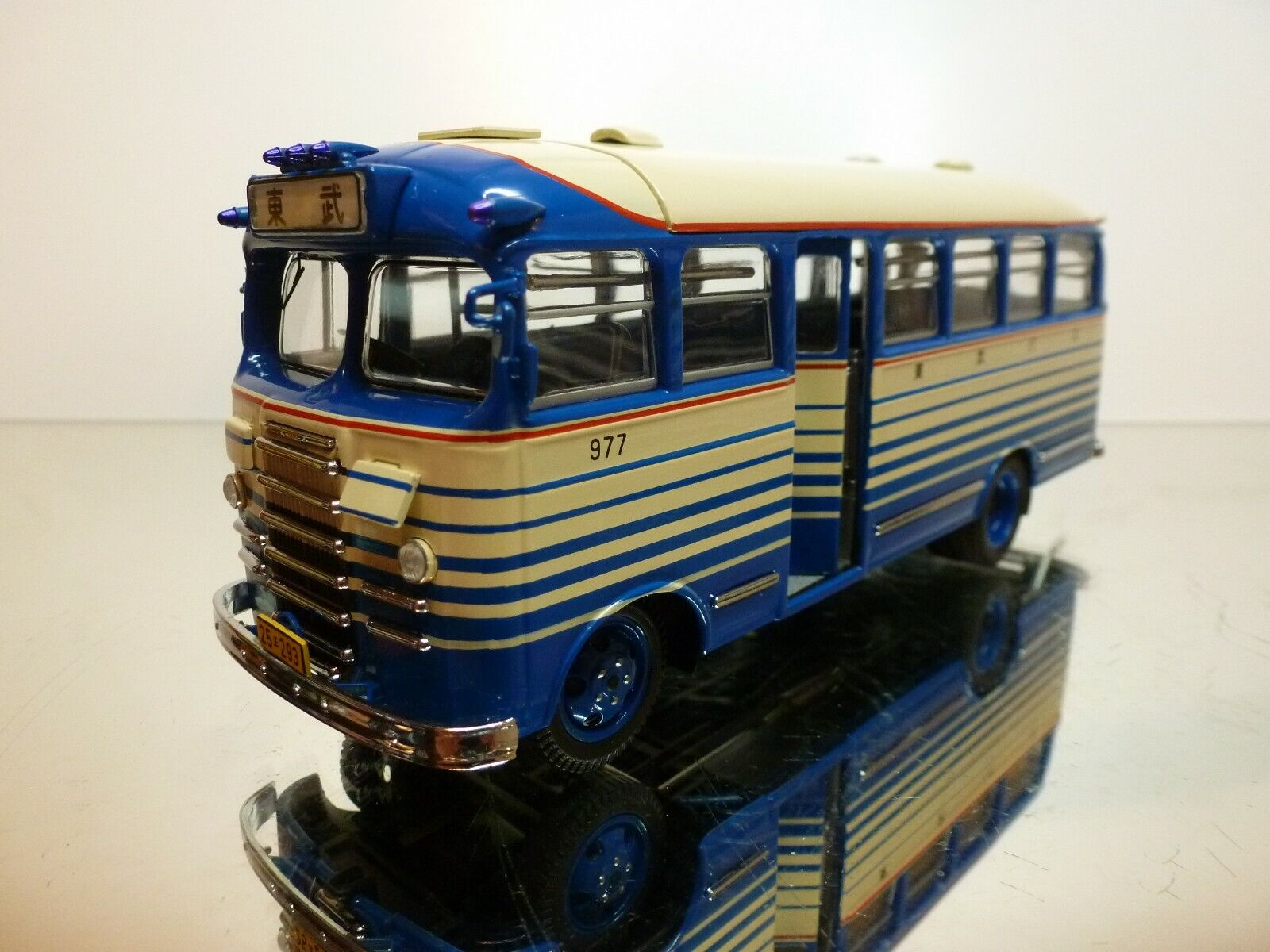 EBBRO MMP NISSAN N180 - TOBU AUTOBUS JAPAN 1951 - bleu + CREAM 1 43 - EXCELLENT