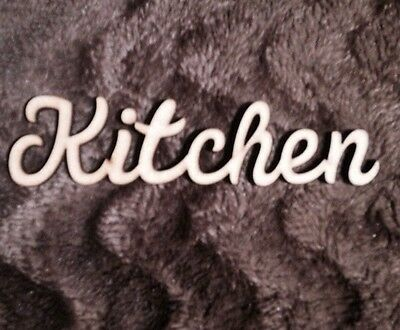 Wooden Kitchen sign Mdf Standing word  6 Mm Thick Blank