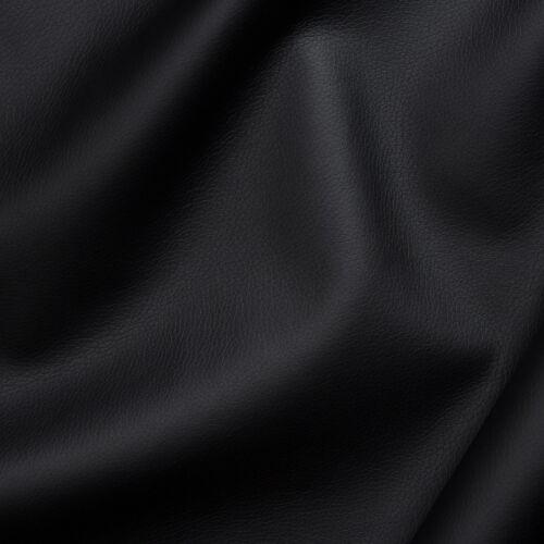 PU Kunstleder weiche Qualität Lederimitat Meterware Bezugsstoff 140cm schwarz