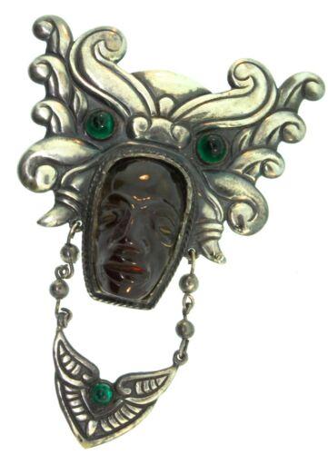 Rare Vtg 1940s FRED A BLOCK Originals Aztec Mask F
