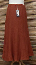 *ZUZA BART*DESIGN BEAUTIFUL100% PURE LINEN LAGENLOOK LONG SKIRT*RUST*Size M-L-XL