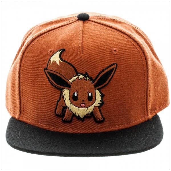 0abae6dbe Bioworld Pokemon Eevee Brown Color Block Snapback Baseball Cap