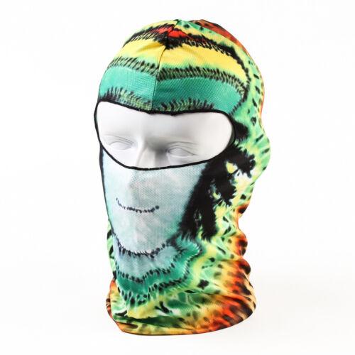 3D Skull Printed Motorcycle Neck Winter Ski Full Face Mask Motorcycle Balaclava