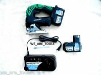 Hitachi Cj18dl 18v Cordless Jig Saw, 2 Ebm1830 Batteries, Charger 18 Volt Jigsaw