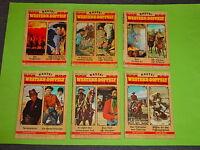 6 x BASTEI WESTERN - DOPPELT  ( ZWEI NEUE WILDWEST-ROMANE ) 1970-1974 / PACK 2