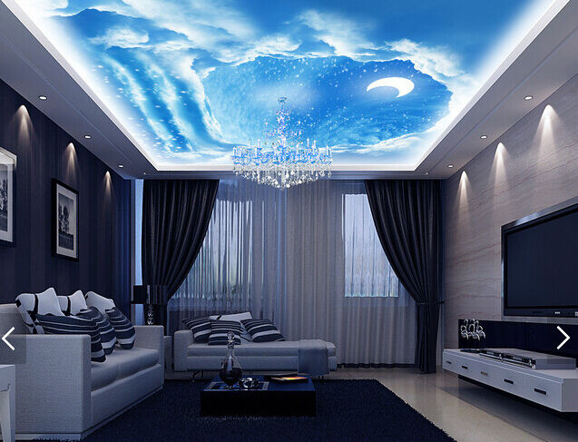 3D Crescent Moon 85 Ceiling WallPaper Murals Wall Print Decal Deco AJ WALLPAPER