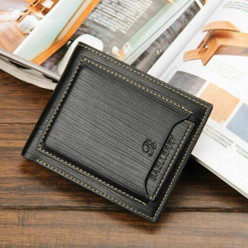 Men Front Pocket Wallet RFID Blocking Carbon Fiber Slim Wallet Bifold Money Clip