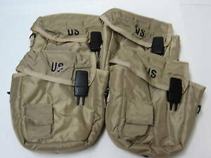 LOT-of-4-NEW-US-ARMY-CARRY-POUCHES-amp-SHOULDER-STRAPS