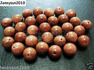 Natural-Gold-or-Blue-Sand-Gemstone-Round-Beads-15-5-039-039-2mm-4mm-6mm-8mm-10mm-12mm