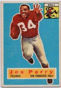 1956-Topps-110-Joe-Perry-VG-VGEX-Wrinkle-San-Francisco-49ers-FREE-SHIPPING