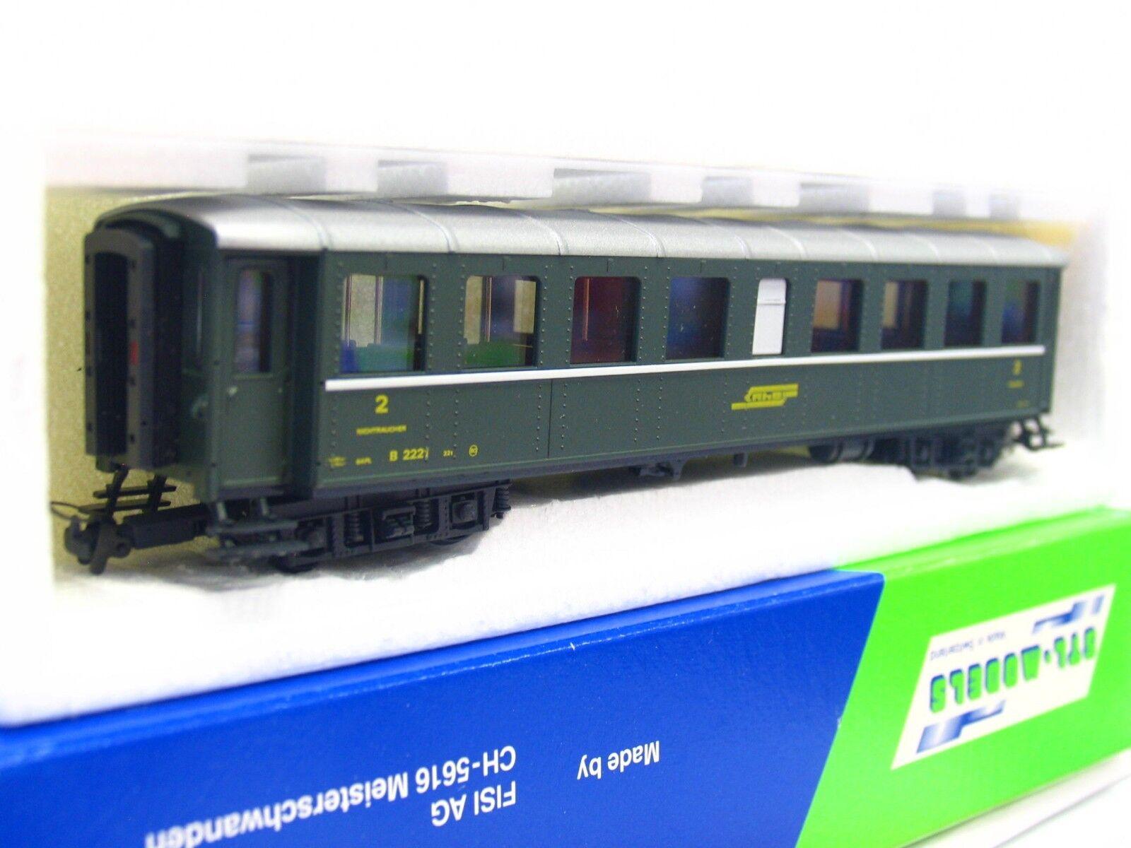Wabu   STL-Models H0m Personenwagen B 2221 2. Klasse RhB OVP (RB3400)    Gewinnen Sie hoch geschätzt