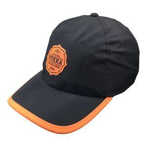 Pukka Mens Adjustable Strapback Hat Black Orange Cap