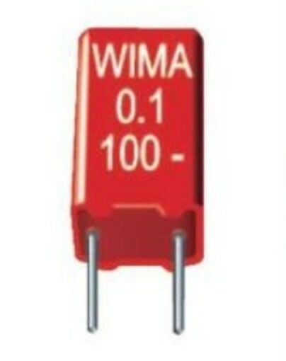 2x Wima MKS2 Polyester Film Capacitor PET 10% 1nF - 2u2 (50V 63V 100V) 5mm Audio