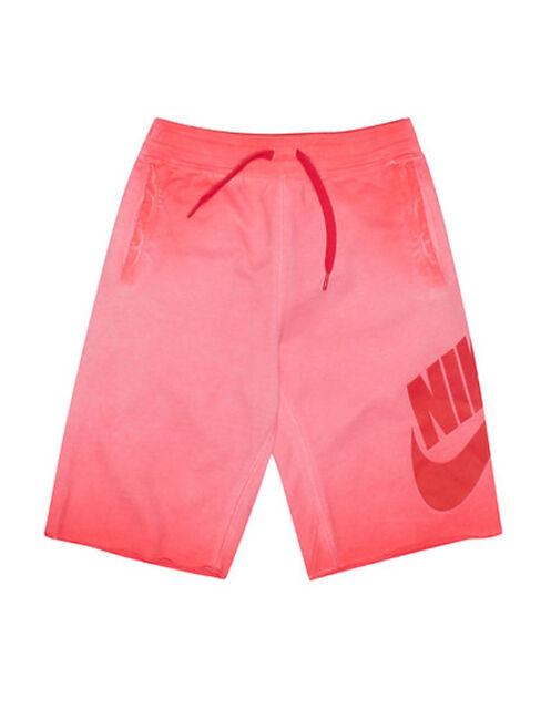 6d3ce04382 Boys Nike Alumni Washed Older Shorts 820671-696 Light Crimson Size S ...