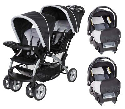 Compatible Travel System Two Car Seats with Baby Double ...