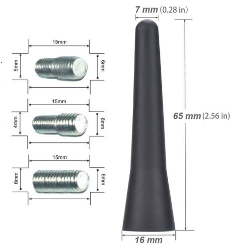 "APE CAR-STING tetto antenna corta Antenna Mast Ariel Arial AM FM 2,56/"" per RENAULT"