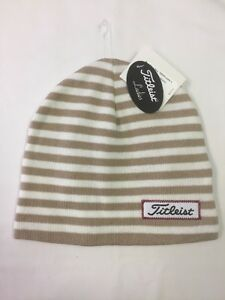 e5b5fee11a1 Image is loading Titleist-Ladies-Winter-Stripes-Beanie-Hat-NWT