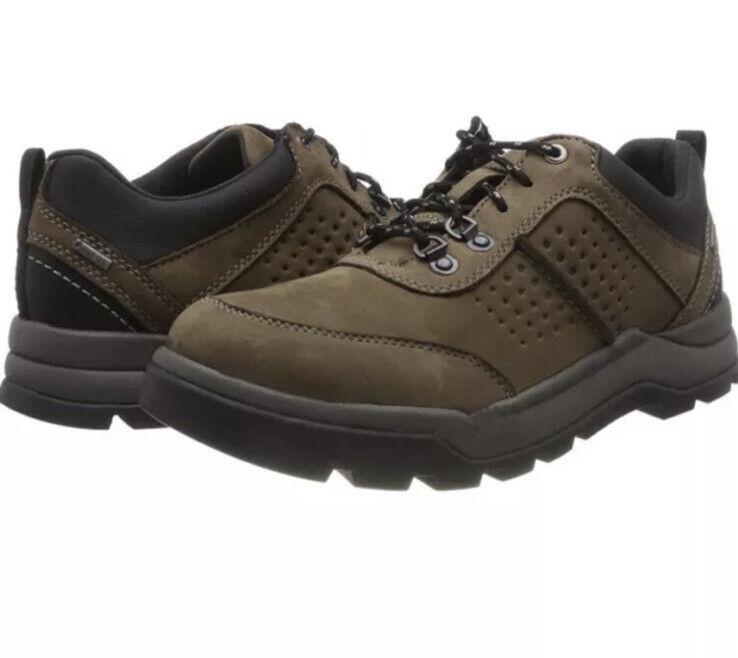 Clarks Men's Un Atlas Lo Gtx Dark Brown Nubuck Leather Uk Size 9 G EUR 43